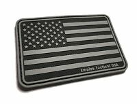 PVC RUBBER 3x2 SWAT Military Subdued American US Flag morale USA Ball cap patch