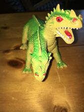 Vintage  Imperial Two-Headed Dragon Figure Hong Kong 1984 Green and Yellow