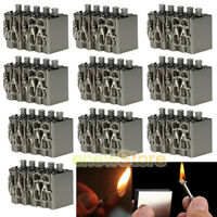 50 X Survival Emergency Camping Fire Starter Flint Metal Match Lighter Hiking US