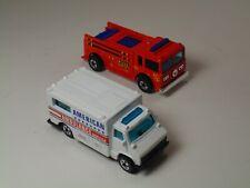 Two Vintage Hot Wheels Emergency Vehicles