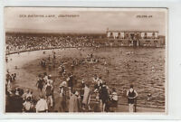 Lots Of People Sea Bathing Lake Southport 1929 Real Photograph Valentines 206284