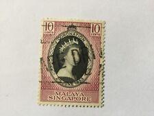 1953 Malaya Malaysia Singapore 10c Coronation