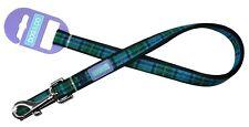 "Dog & Co blue green Tartan check stylish strong Nylon clip Lead Small 1/2"" 48"""