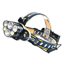6 LED 800LM Headlamp Flashlight Camping Light Head Torch USB Rechargeable