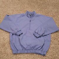 FootJoy FJ Men's Light Blue Golf 1/4 Zip Pullover Medium