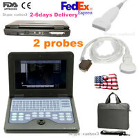 FDA&CE Laptop Machine Digital Portable Ultrasound Scanner Convex&Linear 2 Probes