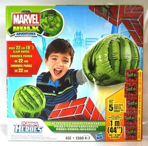 Playskool Marvel Avengers Hulk Ironman Inflatable Hands Ages 4+ New Toy Iron Man