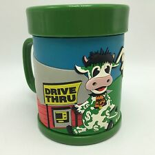 MOOLA Cash Cow Moo-La ATM Drive Thru Barn Money Mug Cup Image Product Green RARE