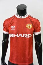 1990-1992 adidas Manchester United Home Shirt SIZE 34-36 (S adults)