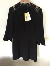 9b2eaa1239bb Womens Karen Millen Size 14 Victorian Lace Yoke Occasion Dress New With Tags
