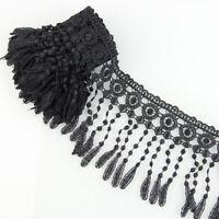 3 YARDS FABRIC BLACK VENISE LACE FRINGE EMEBELLISHMENT SEWING TRIMS CRAFT