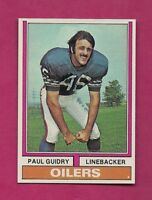 1974 TOPPS # 22 OILERS PAUL GUIDRY NRMT-MT  CARD (INV# A6327)