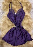 Philippe Matignon violet 47% SILK Camisole Top sleepwear nightwear size S