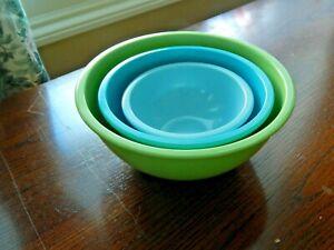Set of Three Martha Stewart Collection Melamine Mixing/Preparation Bowls