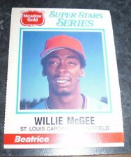 1986 Meadow DOUBLE PLAY  Super Stars Series WILLIE McGEE FULLY INTACT