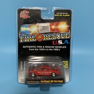 Racing Champions Fire & Rescue USA Portland ME Fire Dept. 1:64 Limited Edition