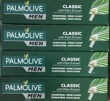 4 X  Palmolive - 100ml Shaving Cream Classic with Palm Extract