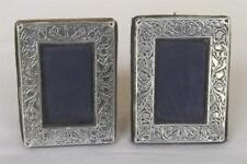 Une exquise Paire X 2 Sterling Silver Cadres Photo Londres 1990.