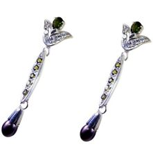 Multi 925 Sterling Silver Natural enticing Tourmaline exporter Earring AU gift