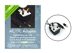 Snowtime AC/DC Adapter For DualPower Beautiful Christmas Changeable DC Jack Xmas