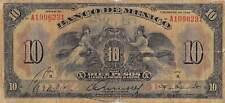 México  10  Pesos  7.3.1934  P 22g  Series  H  Prefix A  Circulated Banknote