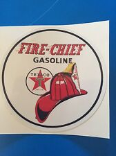 "TEXACO FIRE CHIEF GASOLINE YETI TUMBLER HIGH GLOSS OUTDOOR 4""  DECAL STICKER"