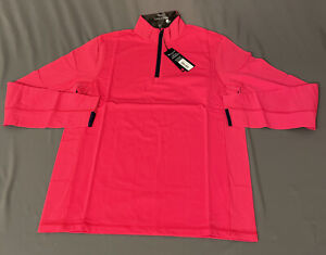 Greyson Tate 1/2 Zip Golf Pullover (S, Patriotic Pink)(NWT) MSRP $125