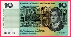 1967 AUSTRALIAN COOMBS/RANDALL $10 Note EF SERIAL NUMBER SDU 357835