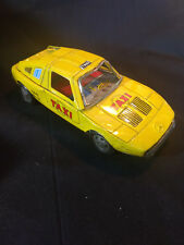 YONE No. 15 Tin Friction Toy Taxi Cab Car Made in Japan Mercedes Benz Emblem
