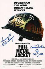 "MATTHEW MODINE & R.LEE ERMEY Hand-Signed ""FULL METAL JACKET"" 11x17 photo JSA COA"