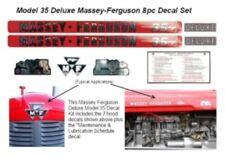 MASSEY FERGUSON DELUXE Model 35 Tractor Decal Set
