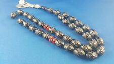 Yusr Black Coral Worry Prayer Beads  Tasbih Masbaha Rosary Antique Vintage Y4