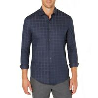 TASSO ELBA NEW Men's Windowpane Button-Front Shirt TEDO