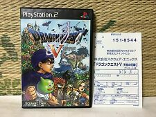 Dragon Quest V 5 No Manual edition with reg card playstation 2 ps2 Japan VG!!
