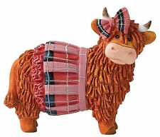 Ava Hairy Coos Border Fine Arts Highland Cow Figurine 8cm A27065 RRP £14.00
