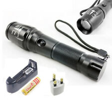 2200Lm XML T6 LED Focus Torch Flashlight Rechargeable 18650 Light