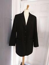 Ladies Sheego Long Black Blazer Jacket Size 16 NWT