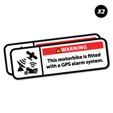 Warning GPS Alarm System Motorbike Sticker Funny Car Stickers Novelty Decals ...