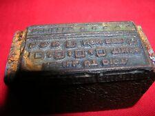 REFILL  drug Stamp Vintage Wood Block Printing Metal PRINTERS Stamp