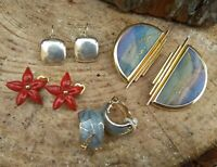 Lot 4 paires boucles d'oreilles clips,vintage,marques