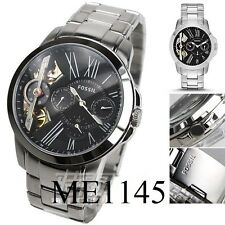 FOSSIL MEN'S LUXURY TWIST COLLECTION SILVER WATCH ME1145