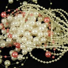 5m of Pearl Bead Trim Pieces Assorted Mixed pack Craft Wedding Doll cards making
