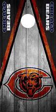 Single Chicago Bears Cornhole Abrigo Piel Calcomanía Vinilo NFL tablero de juego con el logotipo de DT46