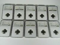1955 P  to 1964 P, 10-Coin Set, Roosevelt Dimes  NGC Pf 68, Beautiful Set