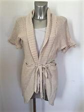 joli gilet cardigan long en coton blanc GUESS LOS ANGELES size L EXCELLENT ÉTAT