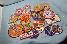 vintage lot hunters club GUN BOW NRA  hunting / shooting 25 pc patch lot