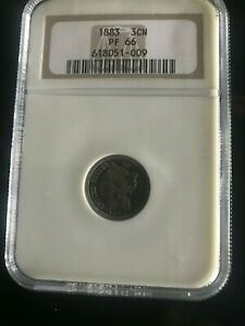 1883 3CN NGC Proof 66 FREE SHIPPING US ONLY