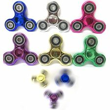 3 Metallic Tri-Spinner Fidget Toy Metal Ball EDC Hand Finger Spinner Focus ADHD