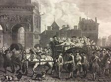 Grande estampe Levasseur Le transport des filles de joie  prostitution XVIIIe