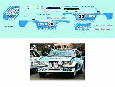 Décalcomanie pour miniature 1/43 OPEL ASCONA 400 - Boucles de Spa 1984 - F.M ...